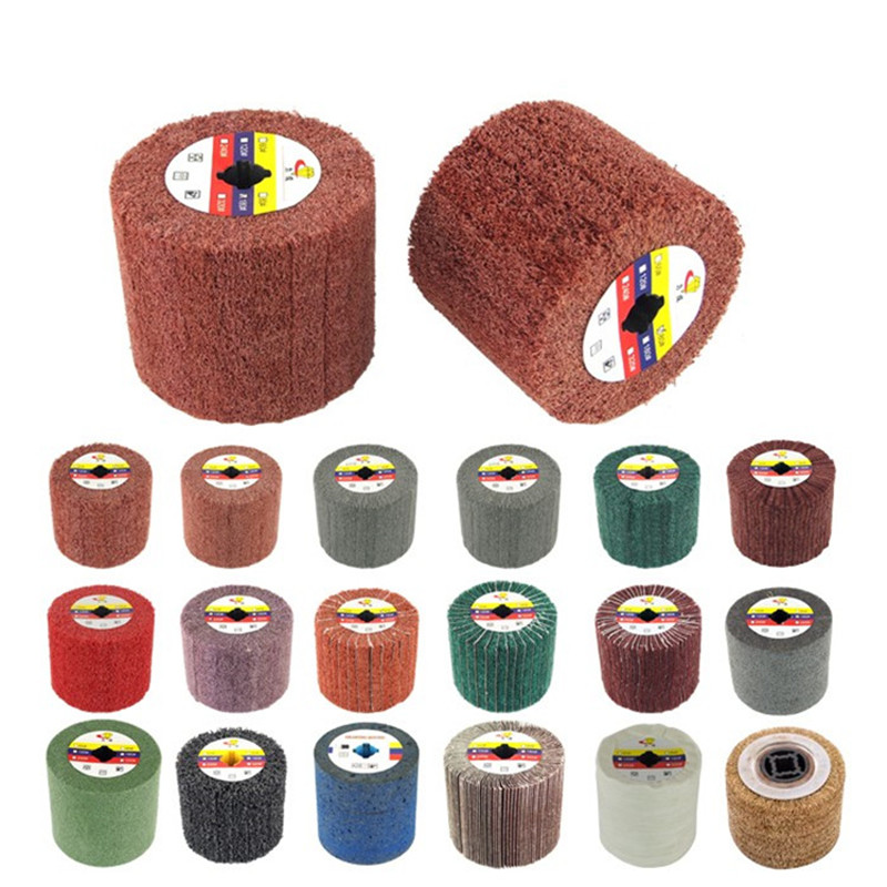 120mm X 100mm Drum Abrasive Drawing Polishing Wheel (Cylinder Buffing Wheel)  For Wire Drawing Machine