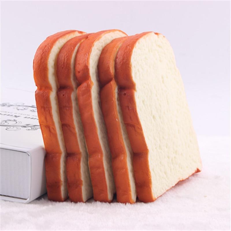 2pcs Pu Toast Artificial Fake Bread Piece
