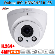 4mp Dahua English IP Camera IPC-HDW2421R-ZS WDR IR Eyeball Network Camera H.264+ with 2.7~12mm varifocal lens IP67 Support POE