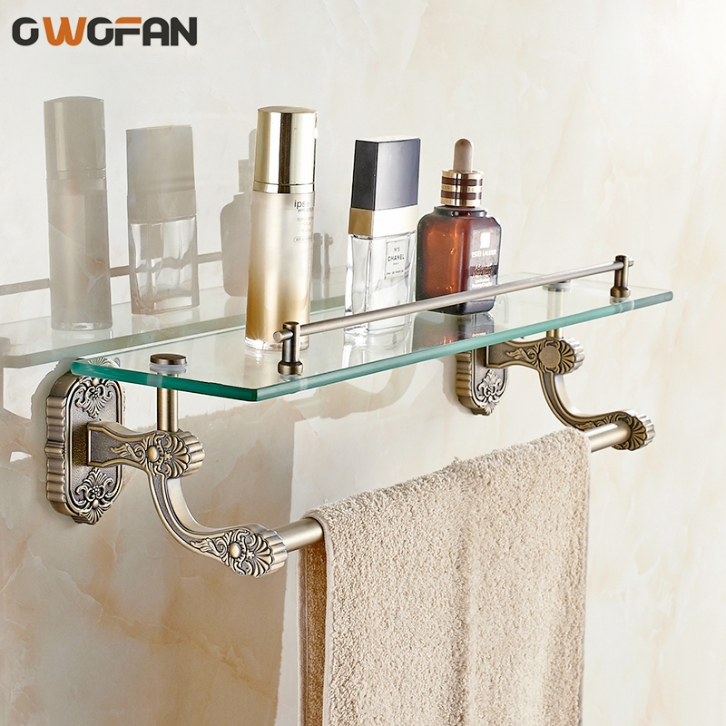 Buy bathroom shelves tempered glass shelf - Bathroom accessories glass shelf ...