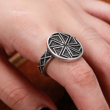 Slavic Men's Kolovrat Rings Pagan Jewelry Simple Rune Bague Ring For women Anel 1pc(China)