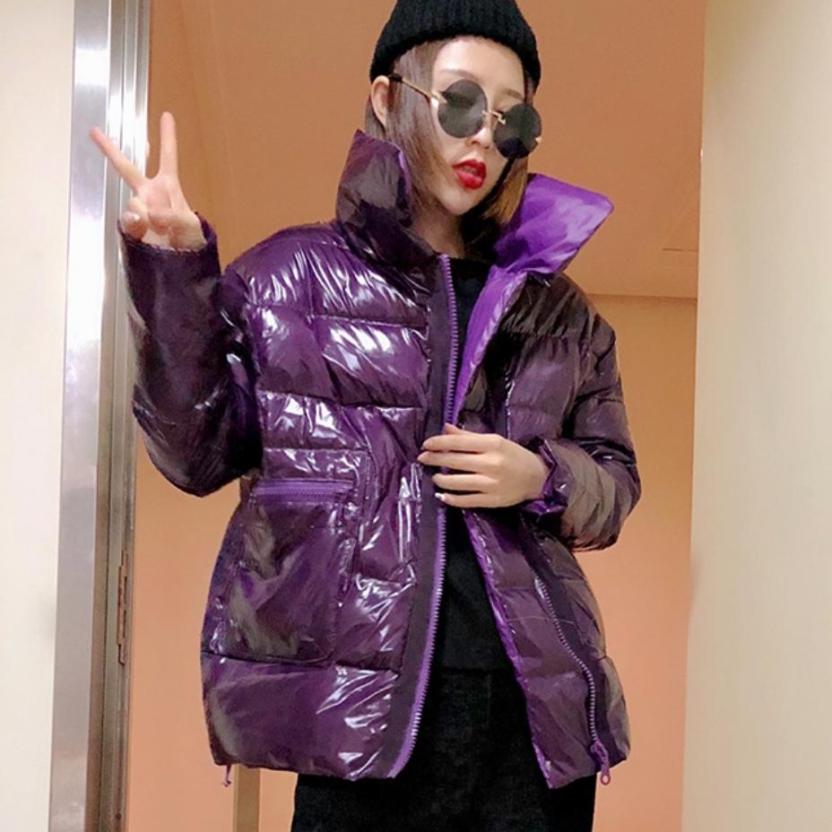 Coton L1729 Mode Chaud De purple Parkas Brillant D'hiver Manteau Femmes Beige Bas Femelle yellow Rembourré Pain blue Lâche 2018 Survêtement Vers black Verni Le Veste m7Y6vgIbyf