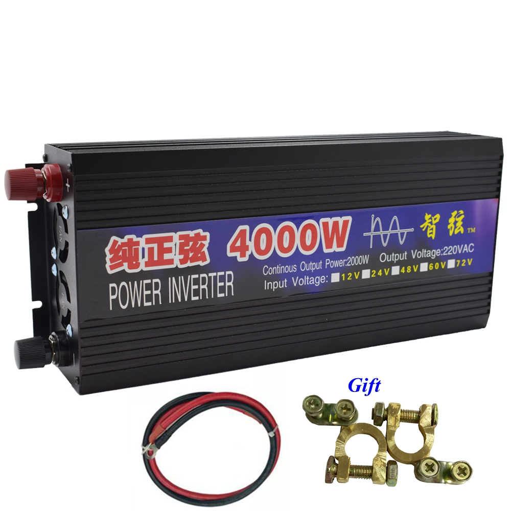 Peak 4000W Pure Sine Wave OFF Grid Inverter DC12V/24V to AC220V 50HZ/60HZ Power Inverter Converter for Rice Cooker/Hand Drill mkp5000 482r high quality direct sale off grid 5kva pure sine wave inverter 48volt dc to ac power inverter 230vac made in china