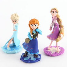 3 pcs/set my Anna Elsa Dolls New Band little Olaf Toys Movable Cartoon & Accessories poni for Birthday Gift Toy Figures