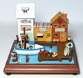 DIY Wooden Miniature Doll House Handcraft Model Kits&Fairy tale town --Girl's Bedroom with furnitures english instruction