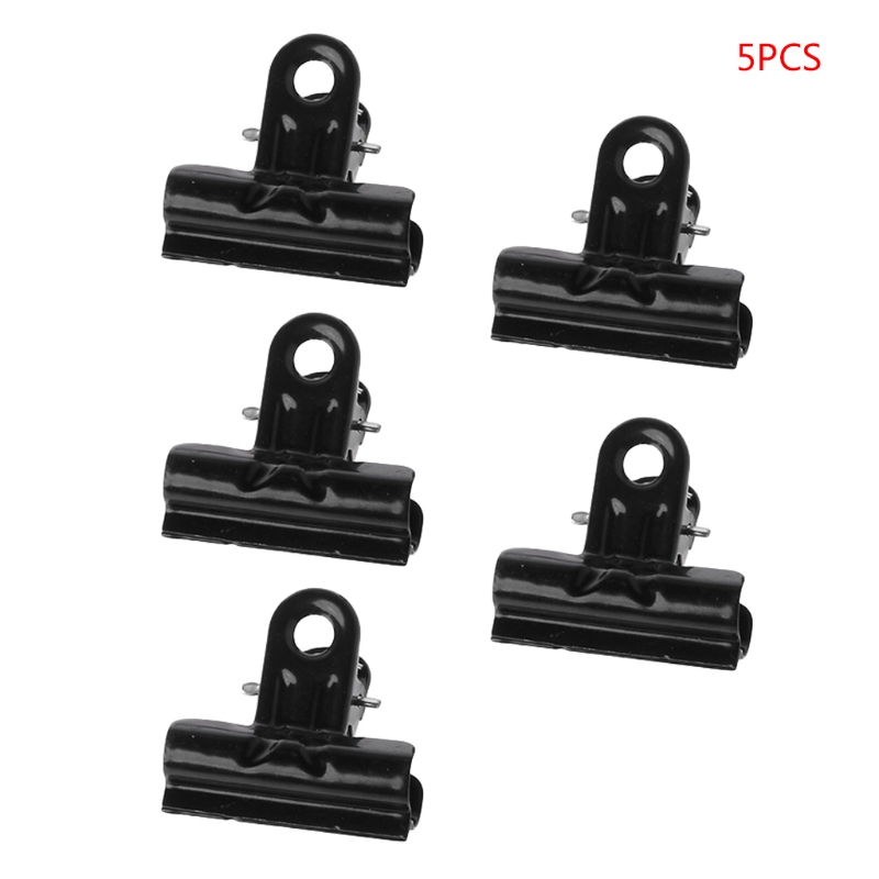 1 Box / 5 Pcs High Quality Metal Clips Black Metal Binder Clips File Paper Clip Photo Stationary Office School Supplies