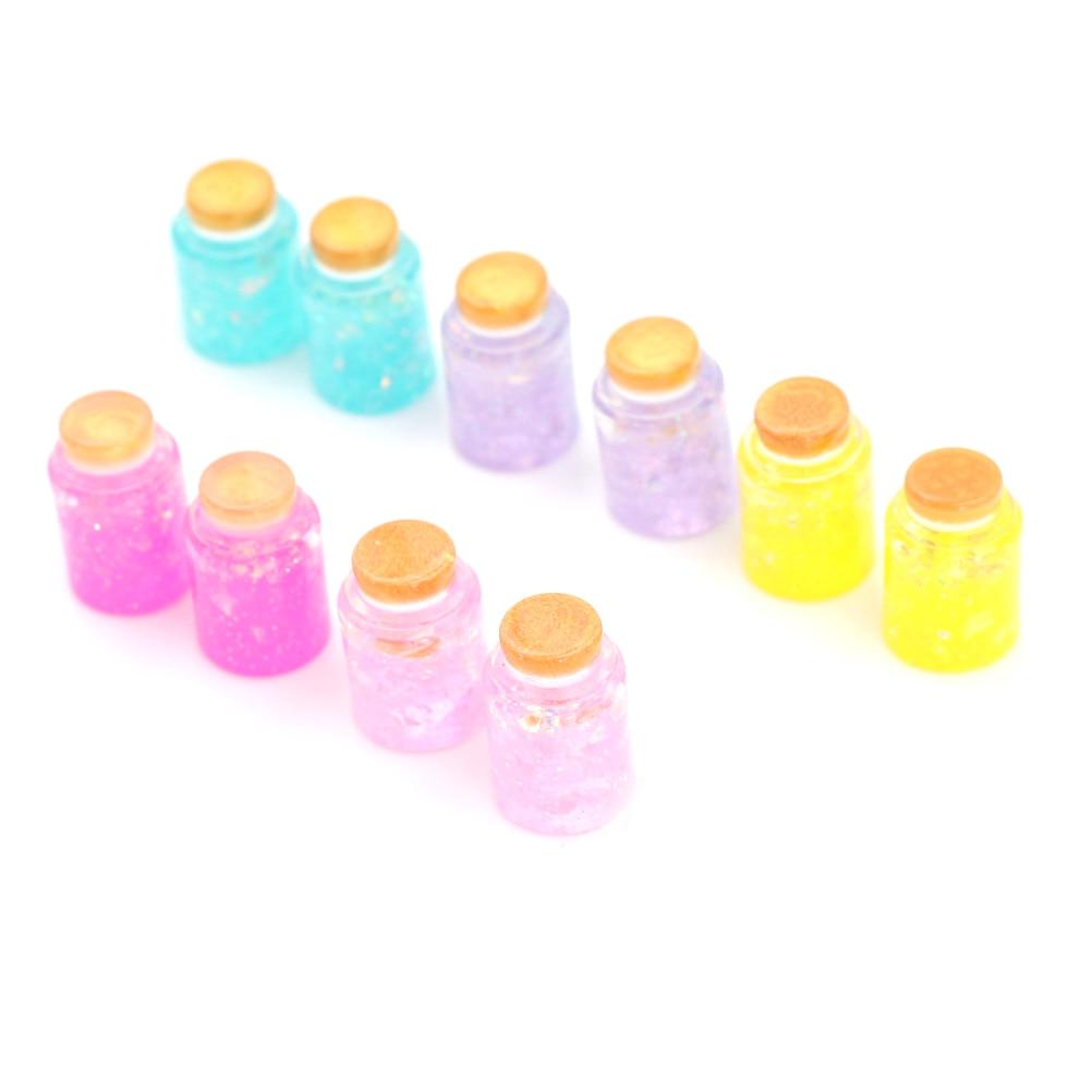 10pcs 1//12 Dollhouse Miniature Honey Jars Food Model for Kitchen Decoration