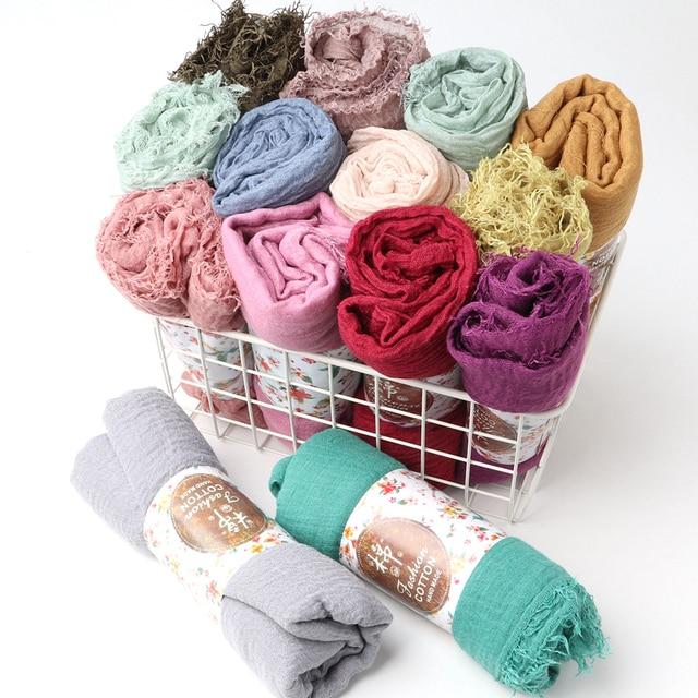 One Piece Maxi hijabs shawls OVERSIZE อิสลาม wraps นุ่มยาวมุสลิม frayed Crepe Premium cotton PLAIN Hijab ผ้าพันคอ