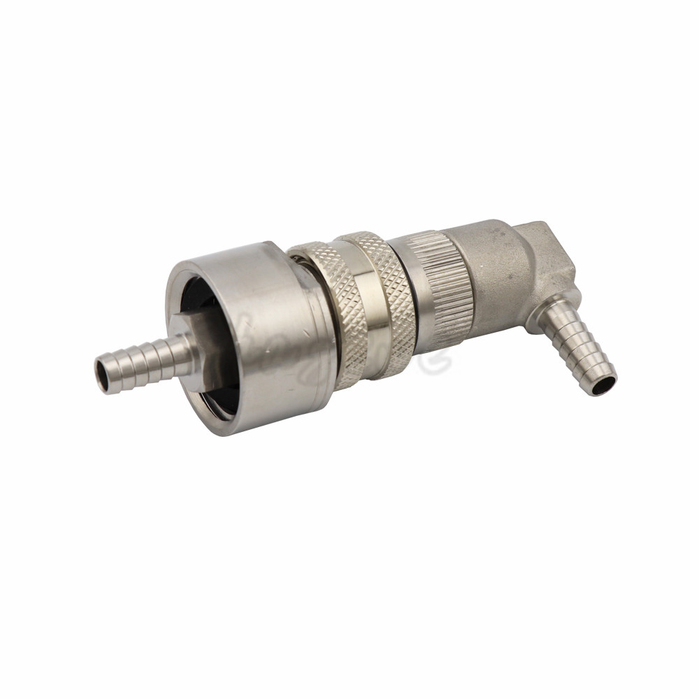 Stainless Steel Carbonation Cap Carbonator with Stainless Steel Liquid or Gas Ball Lock Disconnect Home brewing  (6)