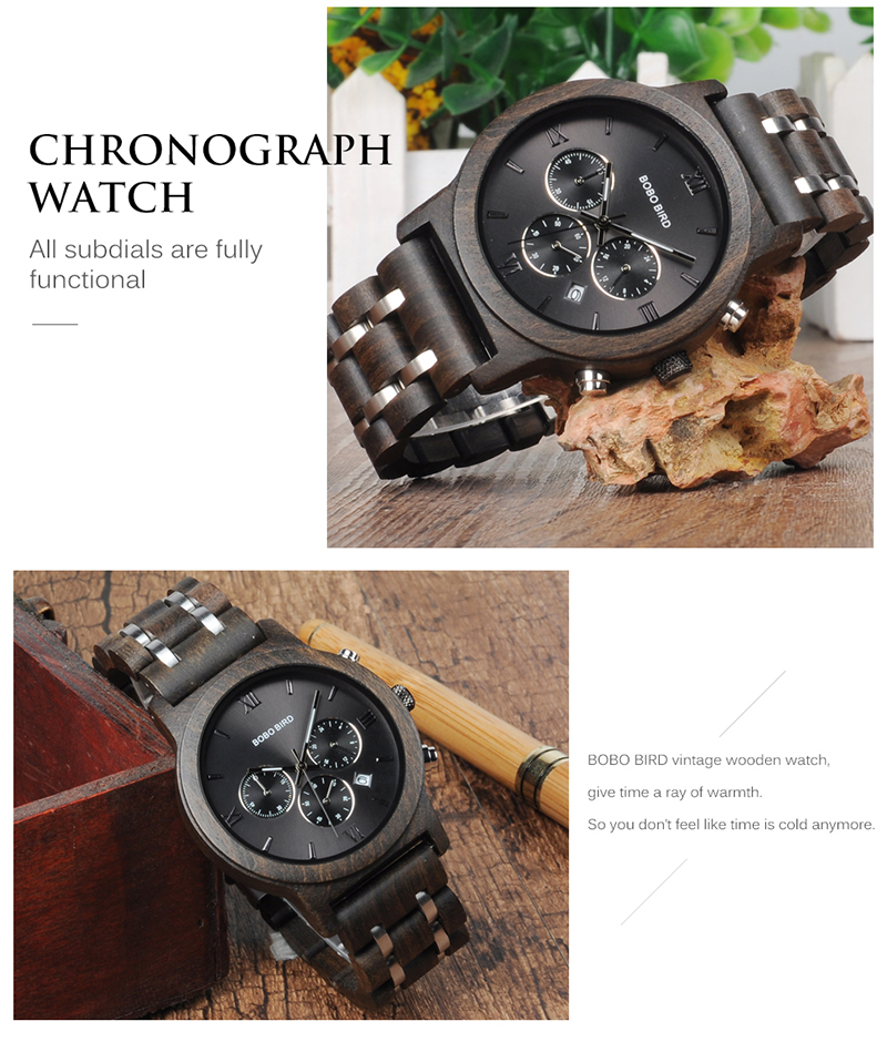 BOBO BIRD Luxury Quartz Wrist Watch for Men - P19 11