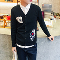 Men sweater 2016 Fall Winter Print Style Cardigan Christmas Sweater Man Plus Size Sweater 5XL 4XL For Man Sueter