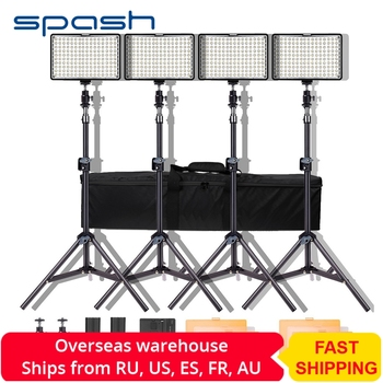 Spash TL-160S LED Video Licht Kit Fotografie Beleuchtung mit Stand NP-F550 Batterie Dimmbare 3200 K/5600 K 160 LED studio Lampe