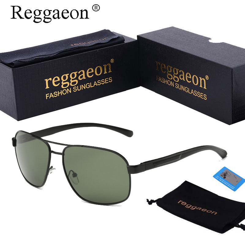 2018 reggaeon Brands Aluminum Magnesium Alloy Frame Square Polarized Sunglasses Mens Dri ...