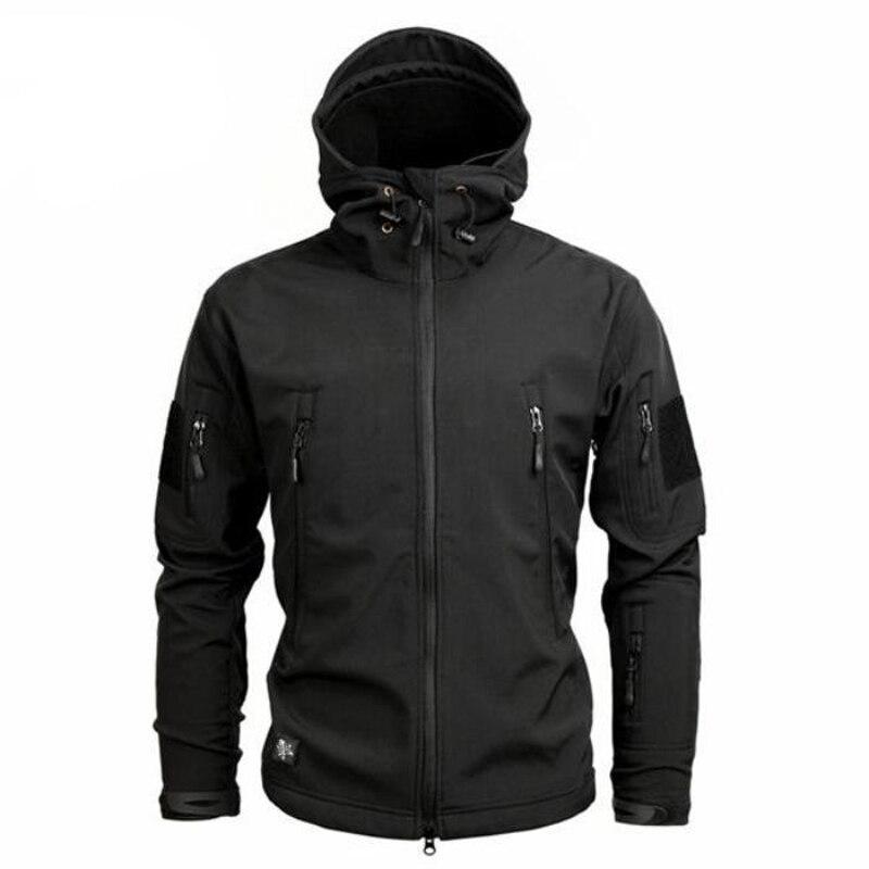 Новая армия камуфляж Для мужчин куртка военно-тактические зимняя куртка Водонепроницаемый Soft Shell Куртки Ветровка
