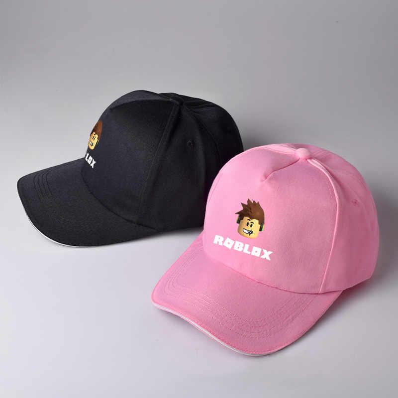 8c23af0bb4ddc Caliente roblox juegos de cap rock banda símbolo sombrero gorro de algodón  negro rosa sombrero jpg