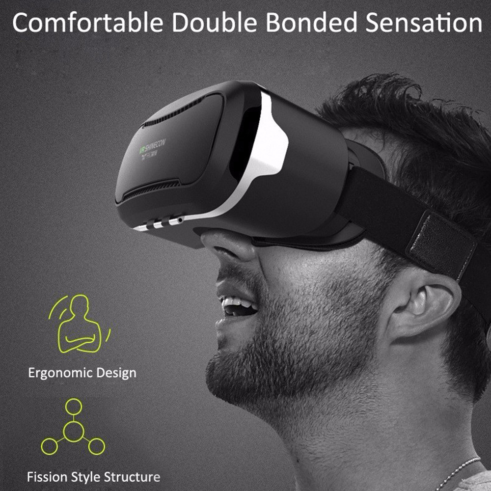 For 1 Pcs VR SHINECON II 3D Virtual Reality Glasses For High-Definition Movies Games Augmented Reality