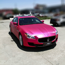 Brushed Matte Metallic Pearl Vinyl vinilo coche automotive vinyl wrap with Air Bubble 1.52x18m/roll Rose