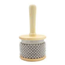 8.7cm Large Size Wooden Cabasa Percussion Instrument for Student Children Popular Hand Shaker Toy