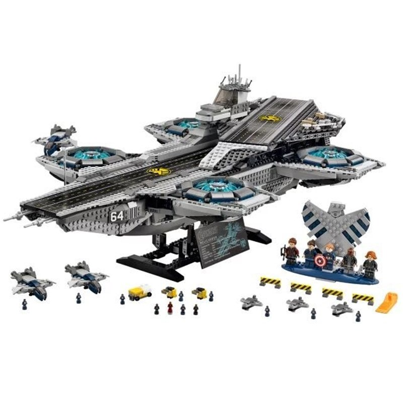 Lepin Building bricks super heroes 07043 3057Pcs The SHIELD Helicarrier Model Building Kits Blocks Toys brinquedos for children wange mechanical application of the crown gear model building blocks for children the pulley scientific learning education toys