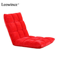 Leewince Modern Living Room Lazy Sofa Couch Floor Gaming Chair Folding Adjustab Sleeping Sofa Bed Lazy