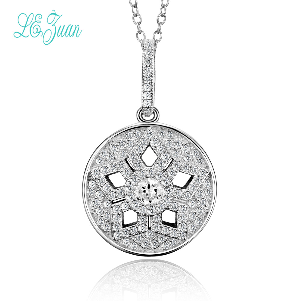 l&zuan Pendant For Necklace Women Bijouterie Sterling Silver 925 Fine Jewelry Round-Shaped White Cubic Zirconia Juwelen No Chainl&zuan Pendant For Necklace Women Bijouterie Sterling Silver 925 Fine Jewelry Round-Shaped White Cubic Zirconia Juwelen No Chain
