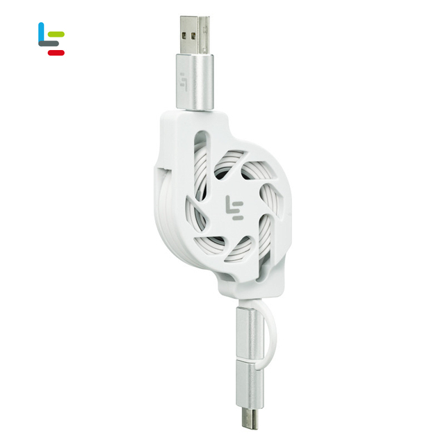 LeEco Original Universal Multi-function 2 in 1 Micro USB&Type C Telescopic Data Lines 1M Flexible Moible Phone Charging Cables
