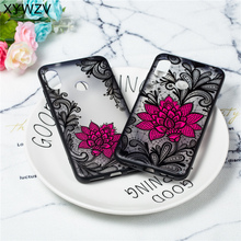 Flower Case Xiaomi Mi A2 Lite Luxury Retro Lace Pattern Matte Cover Redmi 6 Pro