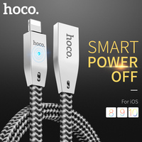 HOCO Original Zinc Alloy Reflective Braid Charging Data Cable for Apple Lightning iPhone iPad 2.4A OTG Fast Charger Wire Sync