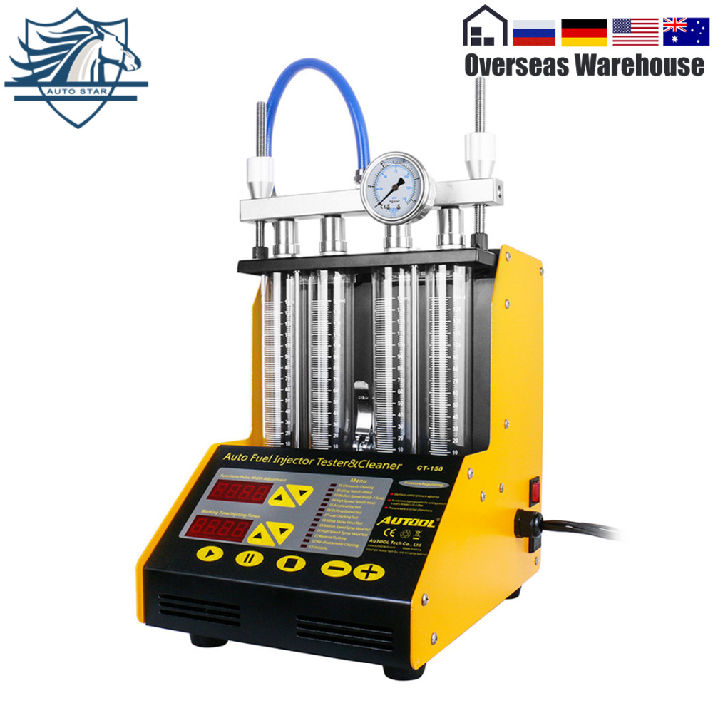 AUTOOL CT150 Car Fuel Injector Cleaning Machine Tester Cleaner Ultrasonic USA Warehouse in Fuel Inject Controls Parts from Automobiles Motorcycles