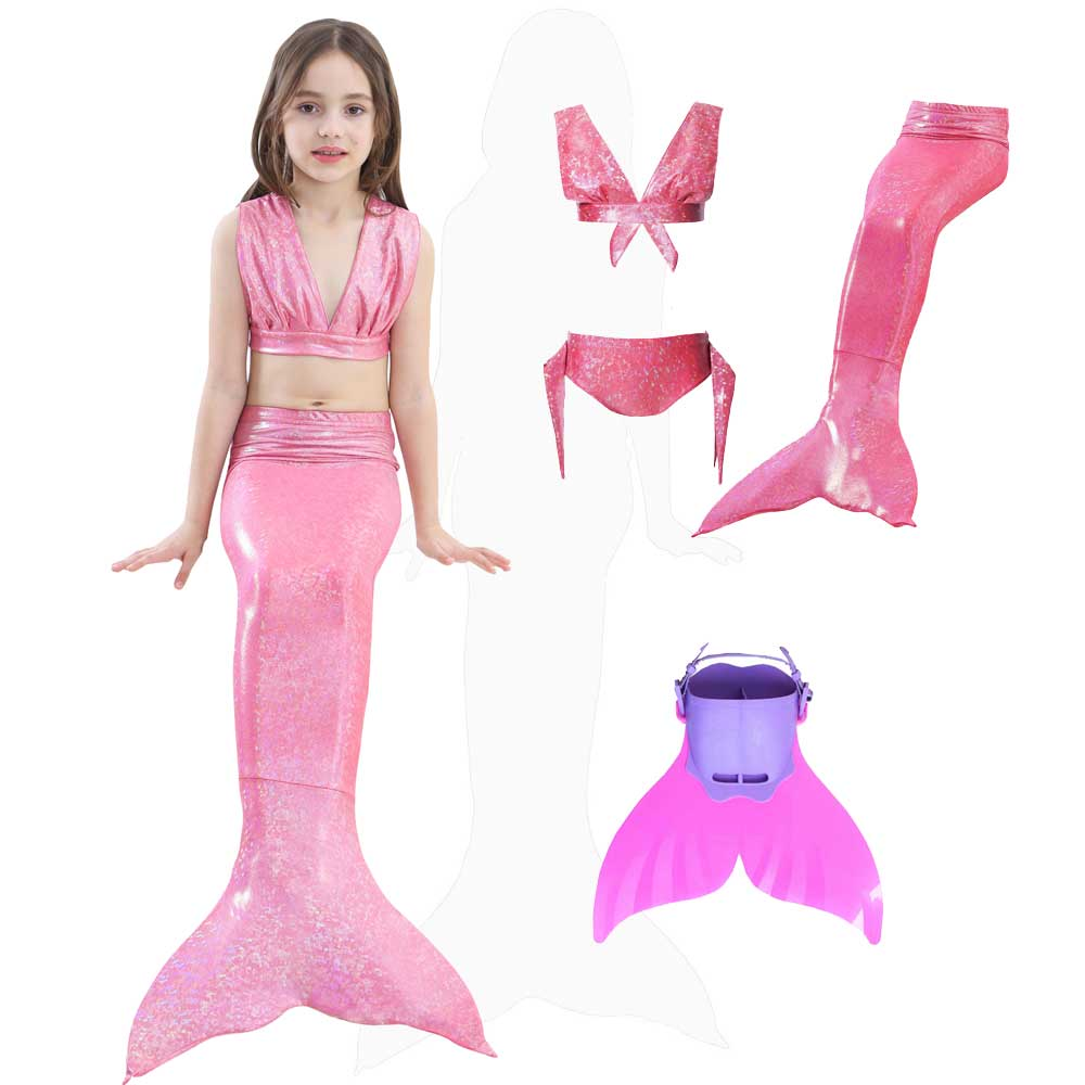 Ocean Mermaid Tail Swimsuit And Dress Costume For Grils Sparkle Tail Swimsuit Walkable And Swimmable Mermaid Clothes