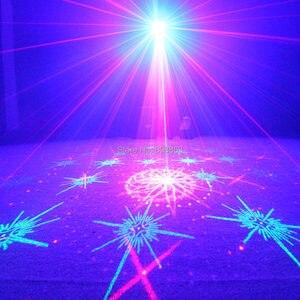Image 3 - Лазерный проектор ESHINY N60T155 с 5 RGB линзами, 128 узоров, синий светодиодный проектор для клуба, домашвечерние, бара, диджея, рождественских танцев, светильник ценических эффектов