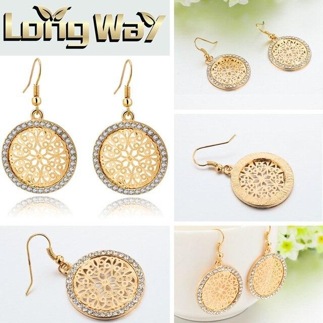 Chicvie винтажные золотые серьги в форме сердца камни для женщин