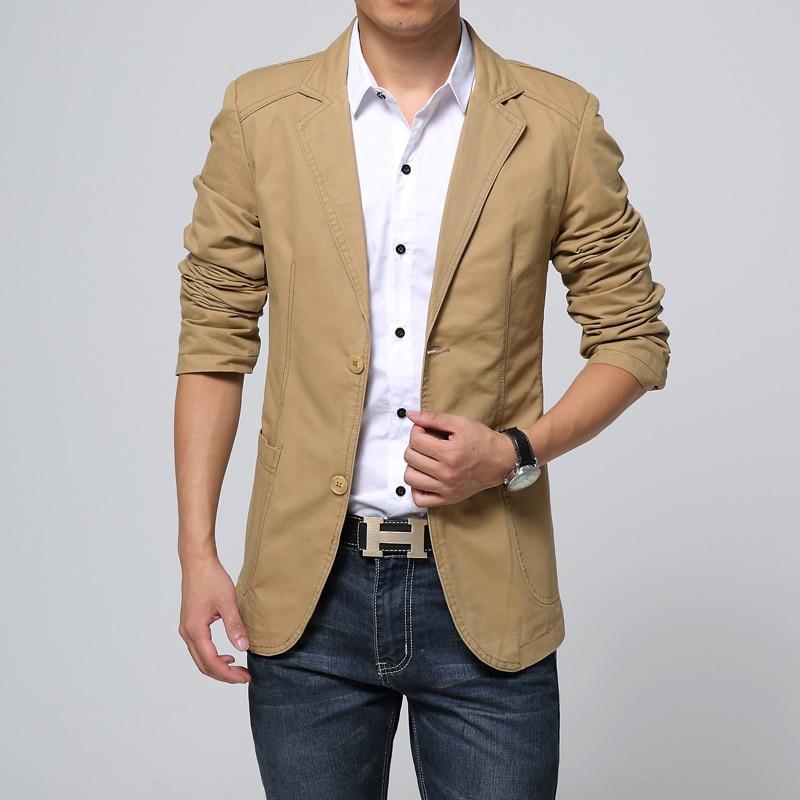 2019 Autumn Outfit New Men's Cultivate One's Morality Leisure Suit Autumn Season Cotton Suit