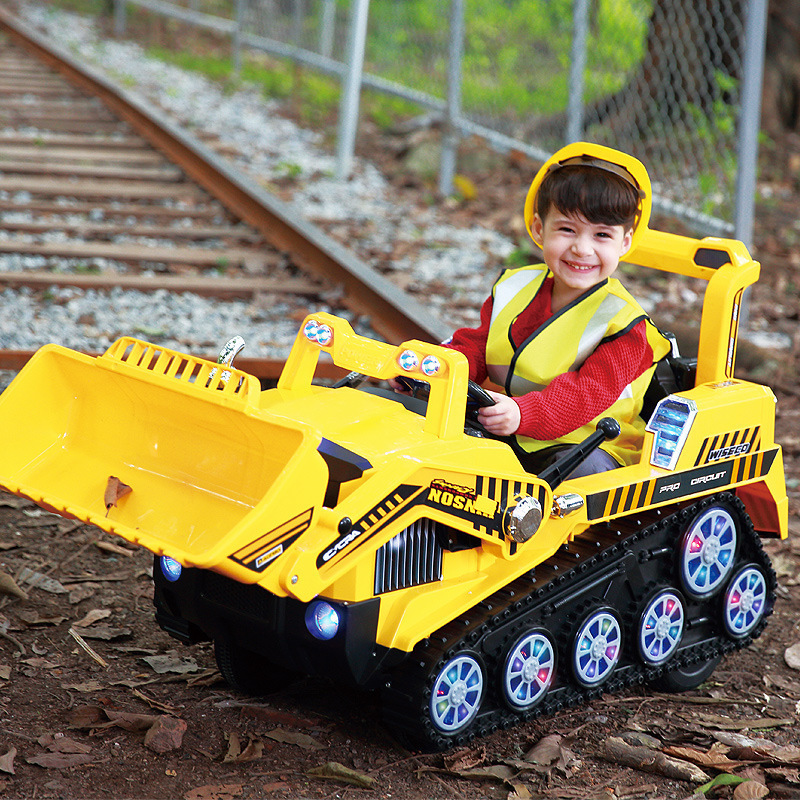 Frond Children Excavating Machinery Can Sit Tuba Motor-driven Excavator Boy Toys Turner Bulldozer 2-6 Yearwithout oringal box quality good engineer series motor driven remote control tuba excavating machinery e511 toys goods in stock without original box