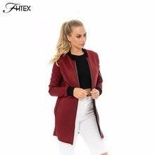 Brief Medium Long Autumn Basic Bomber Jacket Women Color Block Casual Slim Pilot Jacket Outerwear Basic Coats