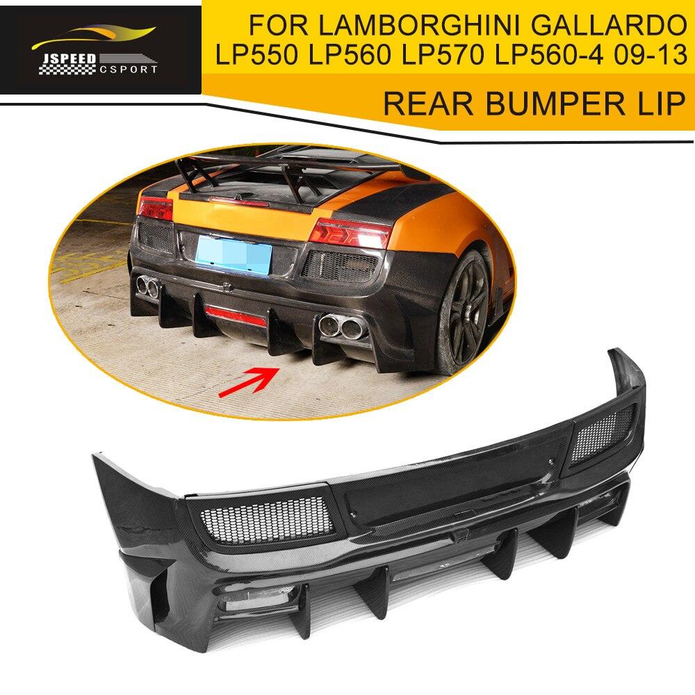 Automobiles & Motorcycles The Best Carbon Fiber Rear Bumper Lip Spoiler Diffuser Case For Lamborghini Gallardo Coupe Convertible Lp550 Lp560 Lp570 Lp570-4 09-13 To Invigorate Health Effectively