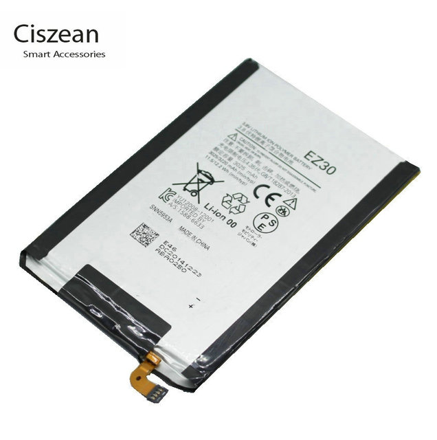 Ciszean 1x EZ30 3220 mAh/12.2Wh החלפת סוללה עבור מוטורולה nexus 6 Google XT1115 XT1110 xt1103 nexus 6 סוללות