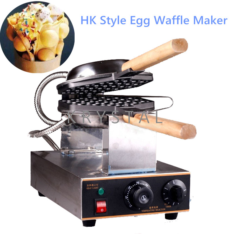 Commercial Electric egg bubble waffle maker machine eggettes puff cake iron maker machine bubble egg cake oven FY-6 commercial snack machine automatic electric round 4 egg cake waffle maker waffle cone maker