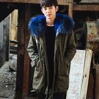 CR101 мужские зимние теплые Настоящее пальто с мехом натуральным лисьим Меховые пальто натурального меха лисы Куртки с капюшоном