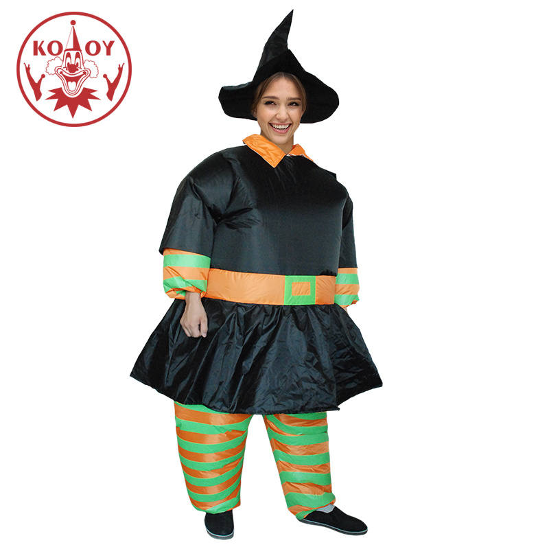Halloween Costume For Men Women Inflatable Witch Crazy Horror Costumes Adult Unisex Jumpsuit