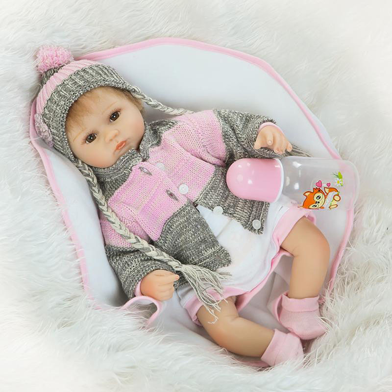 17 Inch Reborn Baby Stuff Dolls for Toddlers Soft Silicone Realistic Kids Toy Safe Silicone Babies Doll For Sale New Arrival cooking well healthy kids easy meals for happy toddlers