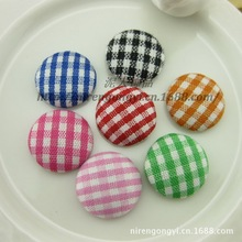 DIY jewelry accessories 15mm plaid flat buttons