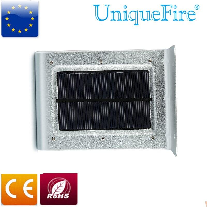 Uniquefire 16 <font><b>LED</b></font> Solar Power Motion ПИР Человека Датчик Сад Безопасности Энергосберегающие Лампы Открытый Водонепроницаемый Свет