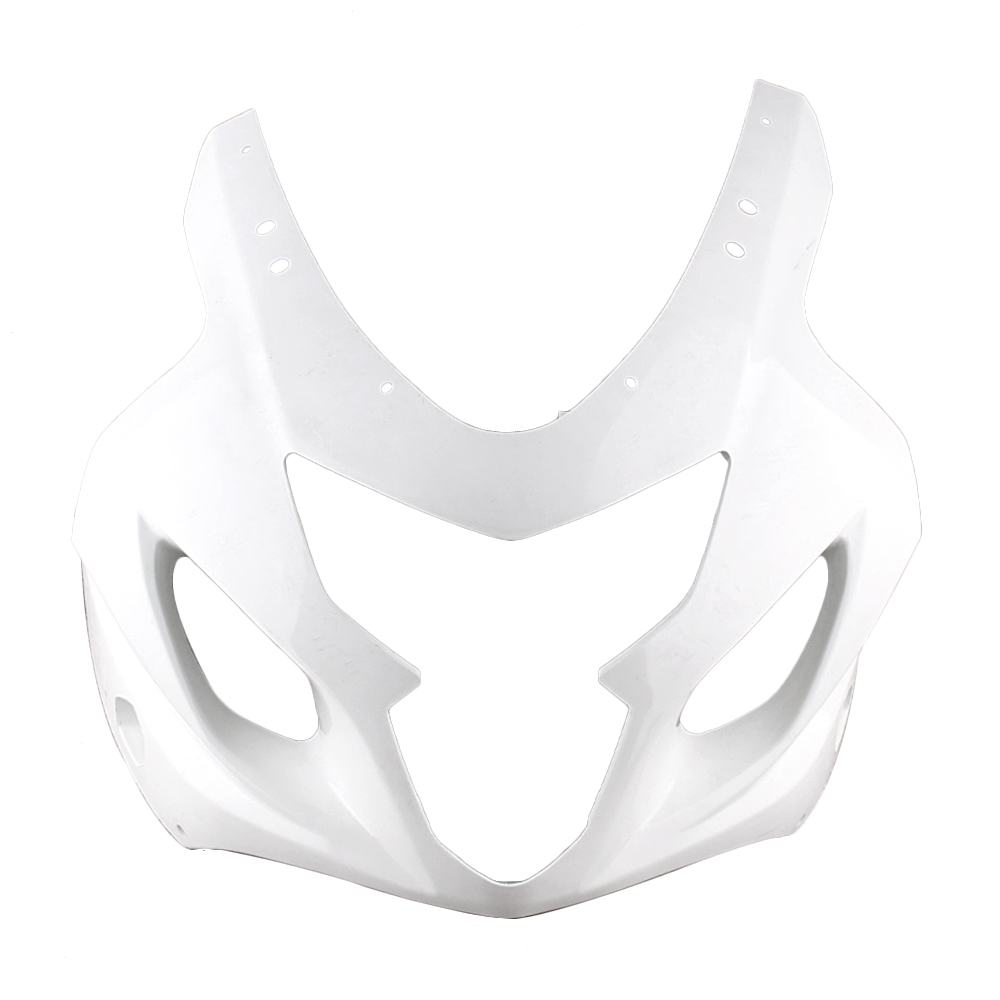 For Suzuki GSXR 600 750 K4 Upper Front Nose Cowl Fairing 2004 2005 Motorbike Accessory Injection Mold ABS Plastic Unpaint White upper front fairing cowl nose fits for yamaha 2004 2005 2006 yzf r1 injection mold abs plastic