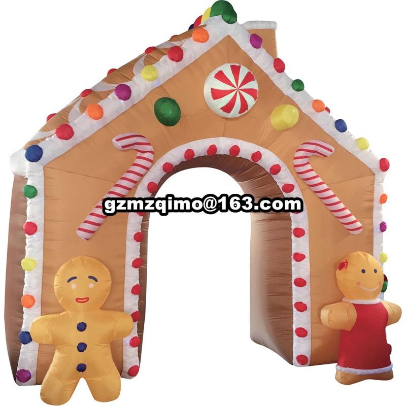 4x3 m noël gonflable arbre arc décoration extérieure gonflable noël arc pour la décoration de vacances
