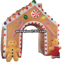 4x3m Christmas inflatable tree arch outdoor decoration inflatable Christmas arch for holiday decoration