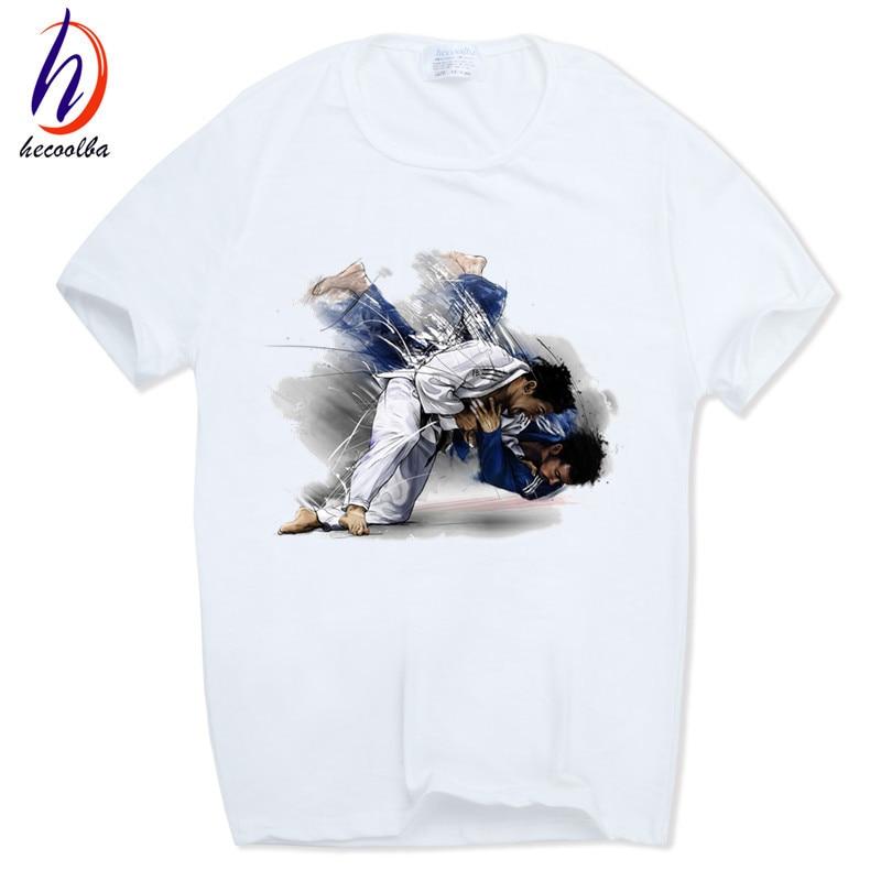 Mäns Evolution Of A Judo Mode T-shirt harajuku hip-hop Kortärmad - Herrkläder - Foto 1