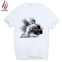 Men's Evolution Of A judo Fashion T-shirt harajuku hip-hop Short sleeve O-Neck Fitness mma Camisetas Tshirt HCP402