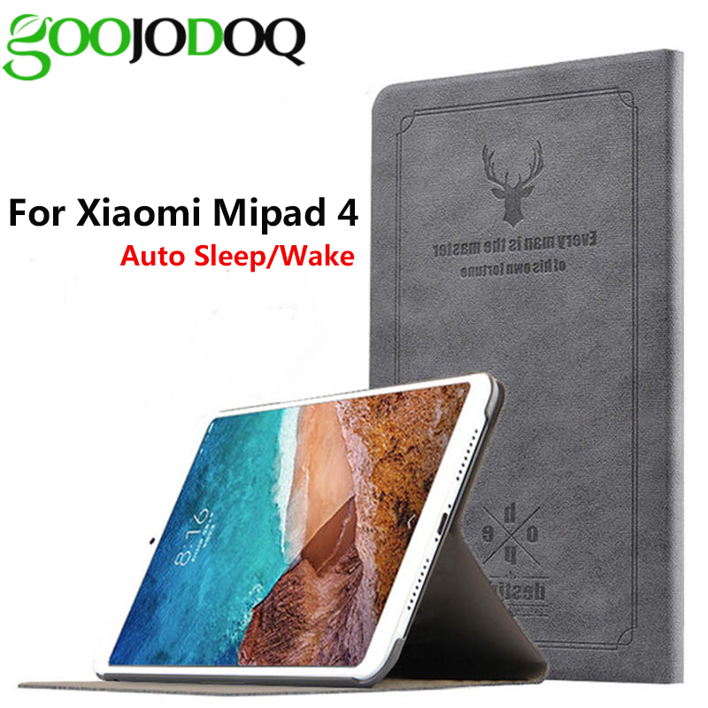 Case for Xiaomi MiPad 4 Protective Smart Tablet Fundas Deer Printed PU Leather Magnet Sleep Cover Stand for mipad 4 case silk pattern protective pu leather case cover stand for iphone 4 4s red black