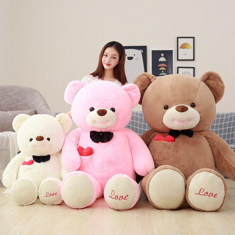 super cute new love Teddy bear pillow bear doll plush toys for children80cm fancytrader biggest in the world pluch bear toys real jumbo 134 340cm huge giant plush stuffed bear 2 sizes ft90451